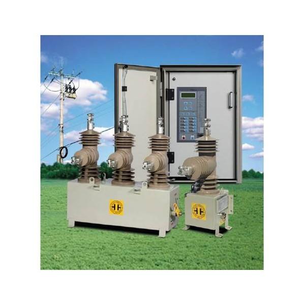 Reconectador automático con interrupción en vacío y aislamiento solido marca ENTEC